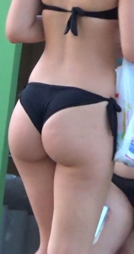 PAWG's In Black Bikini
