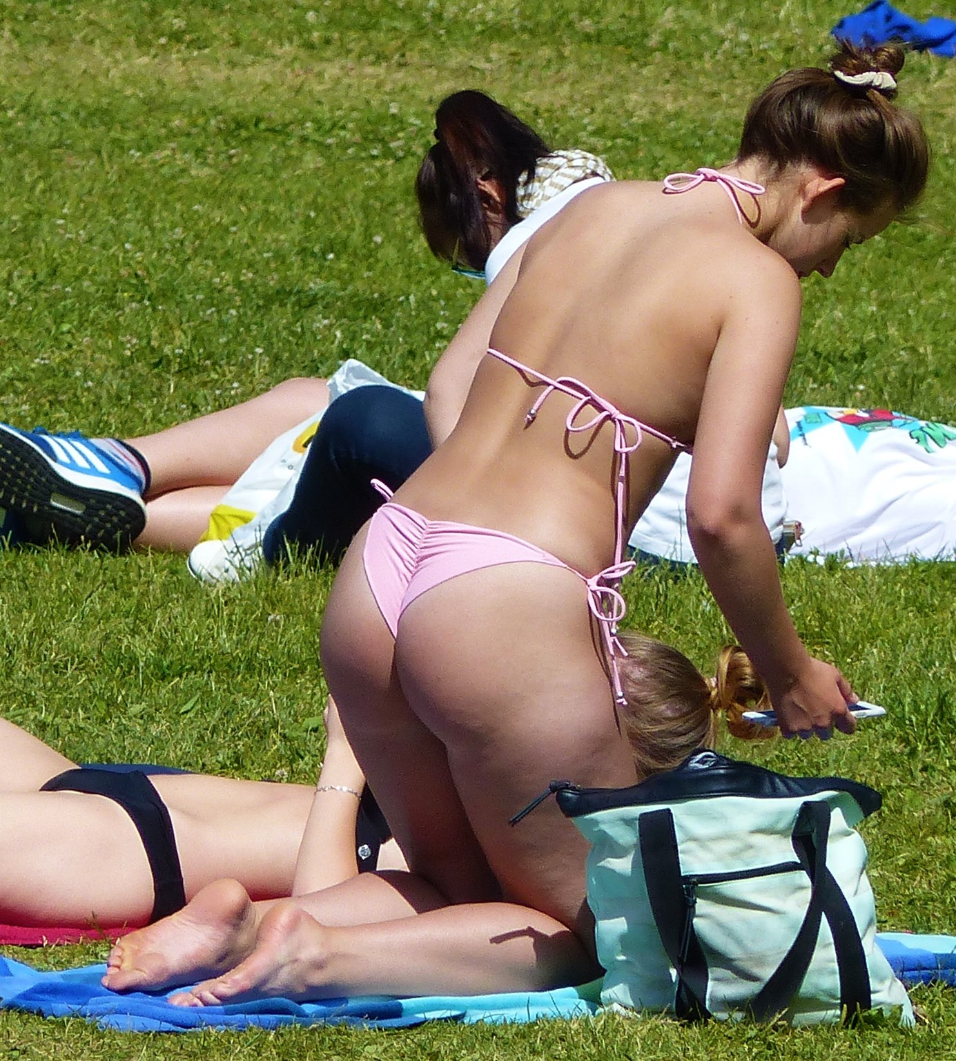"""Two hot girl in """"my"""" beachpark (thong)"""